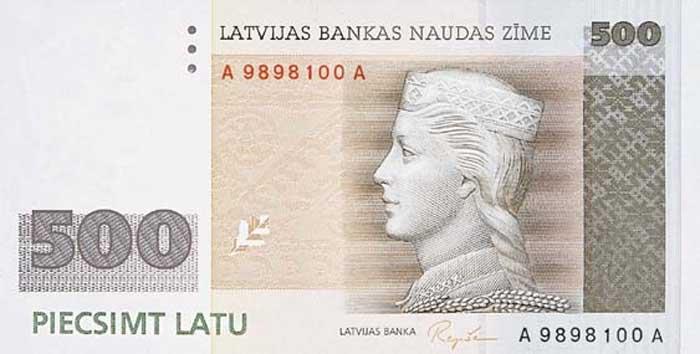Счёт в Латвии